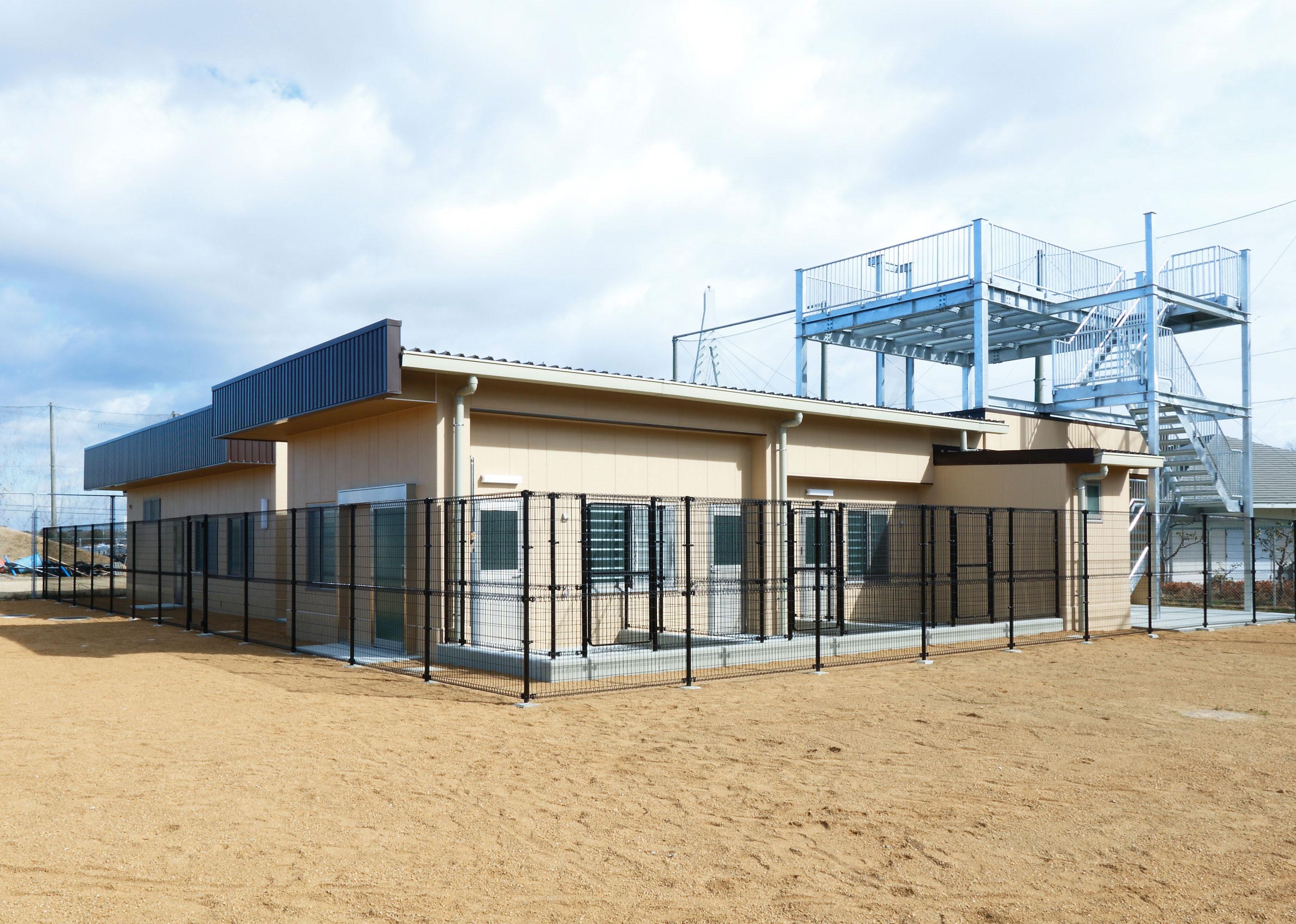 大阪府警察犬訓練センター(警備犬舎)新築工事