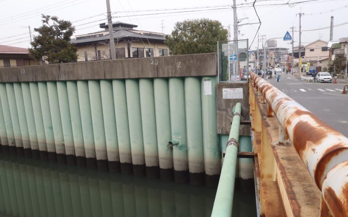 一級河川恩智川 三箇大橋拡幅工事